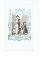 1852 Grabado, Santa Dorotea Virgen y Martir