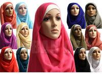 Women Large Oversized Maxi Scarf Plain Hijab Wrap Viscose/Rayon Shawl