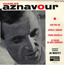 CHARLES AZNAVOUR SUR MA VIE FRENCH ORIG EP JO MOUTET