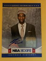 2012-2013 NBA Hoops Andre Drummond #283 Rookie Card RC Autograph Auto Signature