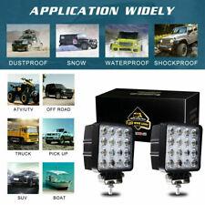 Pair 48W SPOT LED Off road Work Light Lamp 12V 24V car boat Truck Driving UTE