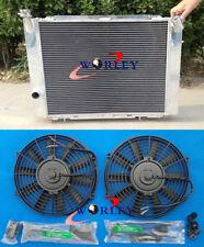 3 ROW for HOLDEN COMMODORE VB VC VH VK V8 1979-1986 MT Aluminum Radiator + fans