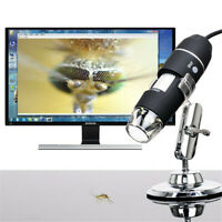 1000X Zoom 8 LED USB Microscope Digital Magnifier Camera Video with Stand