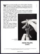 "1987 Patek Philippe Ladies Nautilus Watch photo ""Rare Perfection"" promo print ad"