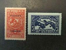 PANAMA, SC# 256-257, LINDBERGH VISIT  (1928) MHG