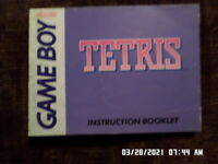 Tetris (Gameboy) GB Instruction Manual Only NO GAME