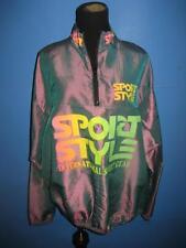 Vtg 80s Sport Style Neon Skate Hip Hop Festival Jacket Windbreaker L