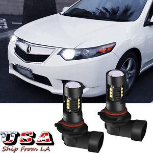 9005 White LED Daytime Running Light DRL Bulbs For Acura TL RL ILX TSX RDX MDX
