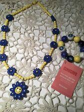 Gymboree Flower Showers daisy necklace bracelet jewelry set accessories NWT EUC