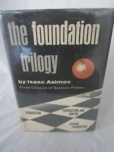 THE FOUNDATION TRILOGY Asimov 1951  3 Classics of Science Fiction Hardcover (LK)