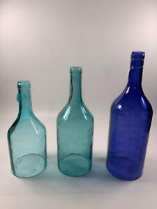 IMAX 96400-3 Monteith Blue Cloche Bottles, Set of 3