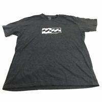 NEW Billabong Adult Surf Core Fit Gray Graphic Logo Tee Shirt Mens Extra Large
