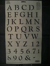Vintage Simply Stencils by Plaid 1999 Capital Letters and Numbers #29603