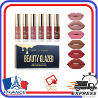 6 Rouge a Lèvres Liquide Mat Longue Tenue Waterproof Liquid Matte Maquillage
