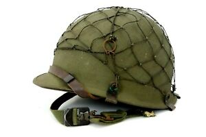US ARMY M1 Helm WW2 Stahlhelm Helmnetz ARMEE jm086