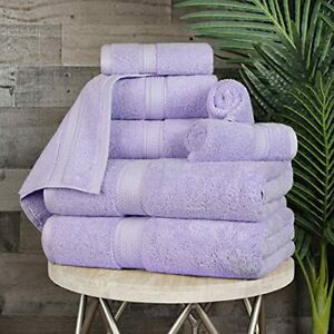 """SUPERIOR Egyptian Cotton 8-Piece Solid Towel Set Washcloths 13"""" x 13"""" Hand To..."""