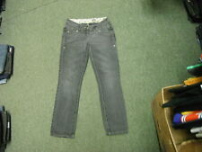 "River Island Straight Jeans Size 10 Leg 30"" Black Faded Ladies Jeans"