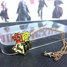 Harry Potter - Hogwarts School Crest - Pendant Chain Necklace (GOLD) NEW!