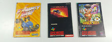 3x Super Nintendo SNES Anleitung Booklets Chuck Rock Exhaust Heat Top Gear 2