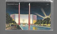 New York World's Fair 1939- COMMUNICATIONS BUILDING EX COND UNUSED