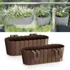 Blumentopf Blumenkasten Balkonkasten Pflanzentopf Holzbrett-Design für Geländer
