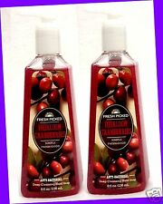 2 Bath & Body Works Fresh Picked Heirloom Cranberries Deep Cleansing Hand Soap