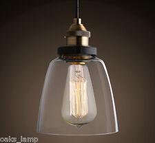 Glass Shade Vintage Ceiling Pendant Lights Lamps Kitchen Retro Lighting 1 Bulb