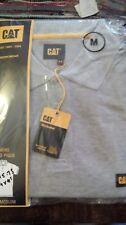 CAT Caterpillar Travail Polo T Shirt à manches courtes 100% coton gris moyen
