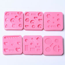 DIY Nail Art Tips 3D Powder Silicone Mould Set Nail Design Beauty Random Deliver