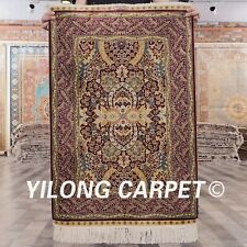 YILONG 2'x3' Small Classic Hand-knotted Carpets Hand made Silk Area Rugs 882A
