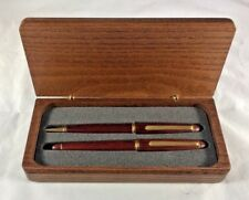 Fountain Pen And Ball Point Pen Wood Cap & Barrel Boxed Gift Set