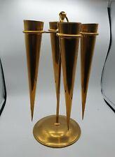 More details for brass 4 trumpet epergne flower arranging