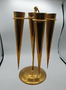 Brass 4 Trumpet Epergne Flower Arranging