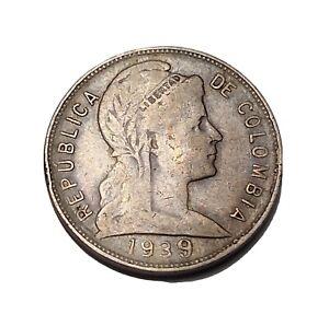 COLOMBIA 5 CENTAVOS 1939/? KM# 199 Mint Casa de Moneda de Colombia Medellin