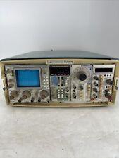 Tektronix Tm 515 Mainframe With Sc502 Oscilloscope Dc509 Sg502 Dc503 Power On