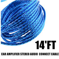 14FEET Car Audio RCA Interconnect Cable RCA / Phono Lead / Cable Amplifier 2CH