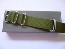 26mm Green Zulu Watch Strap - Nato OTAN Strap for Panerai Garmin- EU Shipping