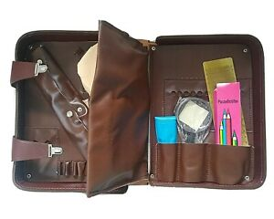 EAST GERMAN/DDR/NVA Officers brown leather case with contents