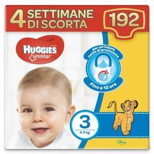 Huggies Pannolini Unistar Taglia 3 Maxi Confezione da 192 Pannolini (4 Settimane