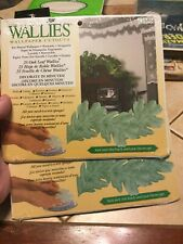 Lot Of 2 Packs Wallies Wallpaper Cutouts 25ct Oak Leaf Pre Pasted 50 Total NEW