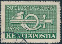 Stamp Finland Sc M6 WWII 1943 Military Feldpost Field Post Kentta Postia Used