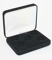 Black Felt COIN DISPLAY GIFT METAL PLUSH BOX holds 5-Quarters or Presidential $1