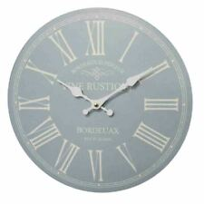 Clocks Country Vintage Inspired Wall BLUE VINE RUSTIQUE Clock 34cm New
