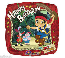 JAKE and the NEVER LAND PIRATES Happy Birthday Square Party Mylar Balloon