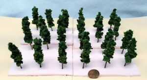 Z SCALE -HAND CRAFTED TREEZ- EVERGREENS -Correct Sized for Z Scale -(24) Pack