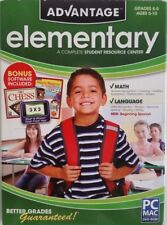 ADVANTAGE ELEMENTARY GRADES K-5  Ages 5-10 WITH BONUS SOFTWARE SEE PICTURES