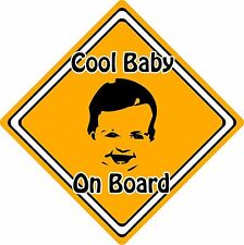 Cool Baby/Child On Board Car Sign ~ Baby Face Silhouette ~ Neon Orange