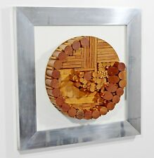 Mid Century Modern Framed Dimensional Wood Wall Art Sculpture Greg Copeland