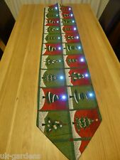 Novelty Festive Christmas Tree Flashing Table Runner Centrepiece With LED Lights