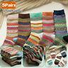 5 Pairs Mens Thermal Socks Winter Warm Soft Wool Thick Nordic Novelty Sock